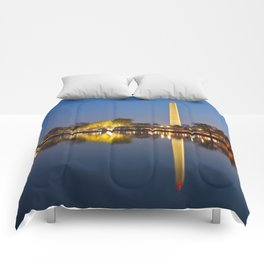 Washington DC Dawn Monument Comforters
