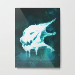 Aberrant Skull - Digital Demon Metal Print