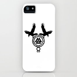 Raven - Valknut iPhone Case