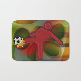 Soccer Kicker Icon Bath Mat
