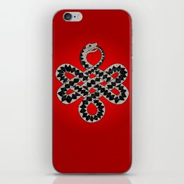 knotted adder iPhone Skin