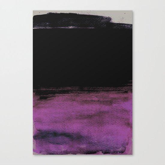 Purple and Black Canvas Print