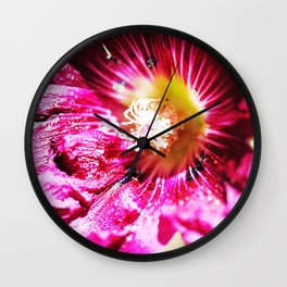 Musk Mallow Wall Clock