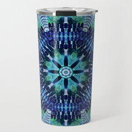 Blue and Green Kaleidoscope Travel Mug