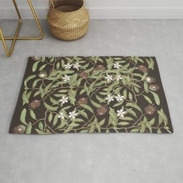 Autumn berries and flowers rich pattern Rug