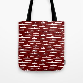 Battleship // Maroon Tote Bag
