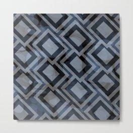 Black and White Squares Pattern 08 Metal Print