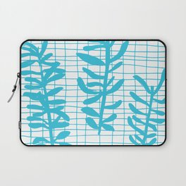 Grid Sprig - aqua blue Laptop Sleeve