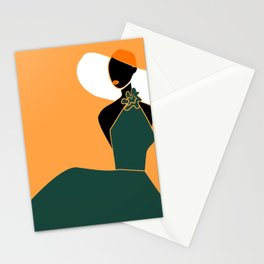 Midnight Citrus - Lady No 02 Stationery Cards