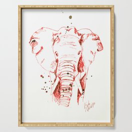 Red Elephant Serving Tray