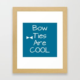DOCTOR WHO Bow Ties Are Cool Teal Framed Art Print