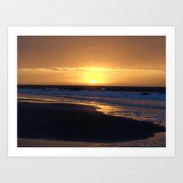 Ocean Island Sunrise Art Print