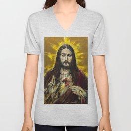 Cor Jesu Sacratissimum Unisex V-Neck