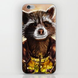Rocket Raccoon and baby Groot from Guardians of the Galaxy iPhone Skin