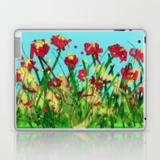 Sky is blue flowers are red Laptop & iPad Skin