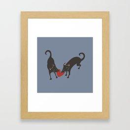 Black Dog Heartbreak Framed Art Print