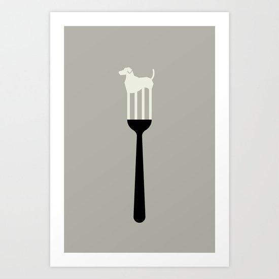 DOG - FORK Art Print