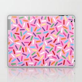 Pink Donut with Sprinkles Laptop & iPad Skin