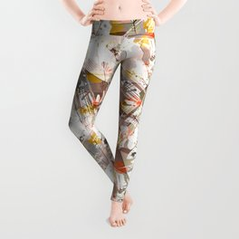 Abstraction. The strokes of paint. 1 Leggings