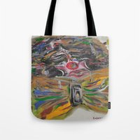 clown Tote Bags featuring CLOWN  by Loosso
