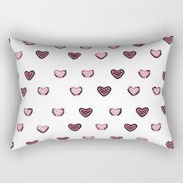 Black and White Heart design Rectangular Pillow