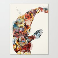 superheros Canvas Prints featuring quick as lightning by bri.buckley