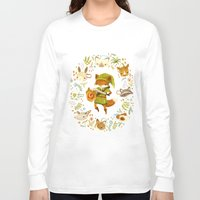 watercolor Long Sleeve T-shirts featuring The Legend of Zelda: Mammal's Mask by Teagan White