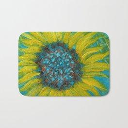 Sunflowers on Turquoise II Bath Mat