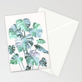 Delicate Monstera Blue And Green #society6 Stationery Cards