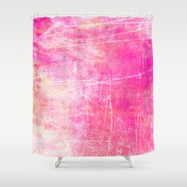 Surreal pink color scratches Shower Curtain