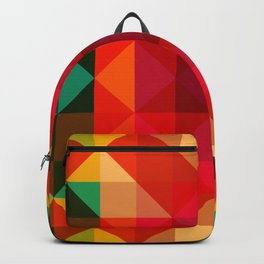 Abstract Bright Flower Pandi Backpack