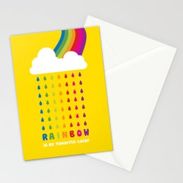 RAINBOW IS MY FAVORITE COLOR Stationery Cards