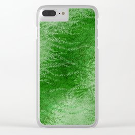 Wind-whipped Vines (green II) Clear iPhone Case