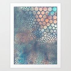 Dream Circles Charcoal Art Print