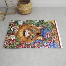 Louis Wain's Cats - Cat In the Garden Rug