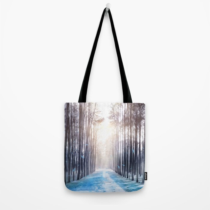 Feather Dance In Winter Tote Bag