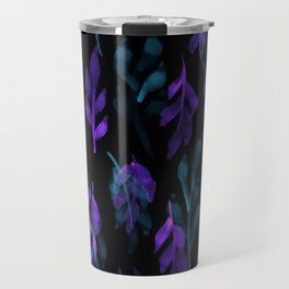 180726 Abstract Leaves Botanical Dark Mode 26|Botanical Illustrations Travel Mug