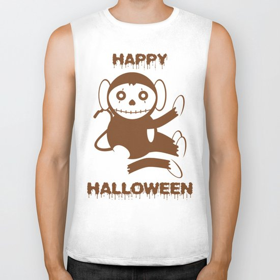 Dead Monkey Happy Halloween Biker Tank