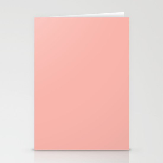 SOLID CORAL/PEACH Stationery Cards