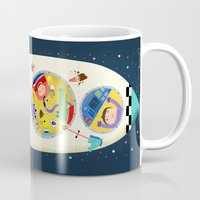 spaceship Mugs featuring Spaceship  by ilana exelby