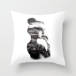 Vagabond // Fashion Illustration Throw Pillow