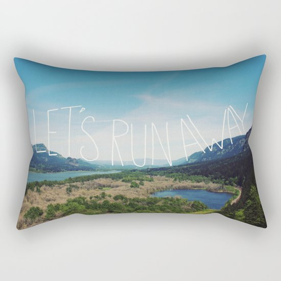 Let's Run Away: Columbia Gorge, Oregon Rectangular Pillow