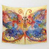 ali Wall Tapestries featuring Astrazioni su ali di farfalla by Alessandro Andreuccetti