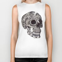 bioworkz Biker Tanks featuring Ornate Skull by BIOWORKZ