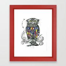 Bird Inspiration: Brown Fish Owl Framed Art Print