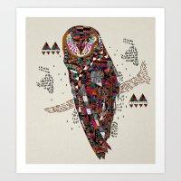 kris tate Art Prints featuring HATKEE Collaboration by Kyle Naylor and Kris Tate by Kyle Naylor