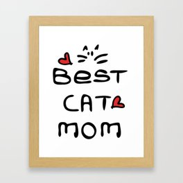 Best cat mom Framed Art Print