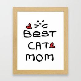 Best cat mom Framed Art Print