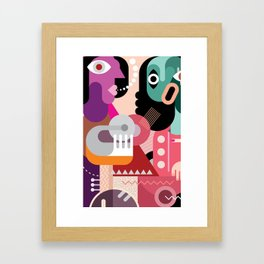 three beautiful womens Arts Framed Art Print