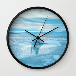 The Strange Ice Circle of Baikal Wall Clock